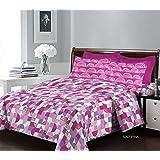Bombay Dyeing Bedsheet Set, Pink, 137 x 224 cm, 5097 B