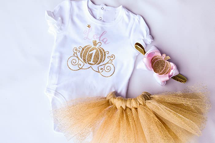 195b8a0f187 Image Unavailable. Image not available for. Color: First Birthday  Personalized Pumpkin Girl Outfit ...