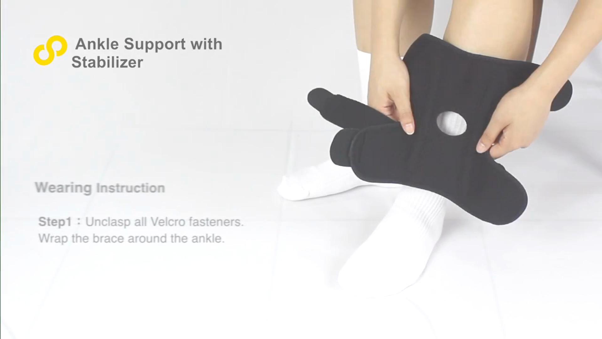 Dynamic Splin Ankle Brace Dual Spring Stabilizers Open-Heel Adjustable Support