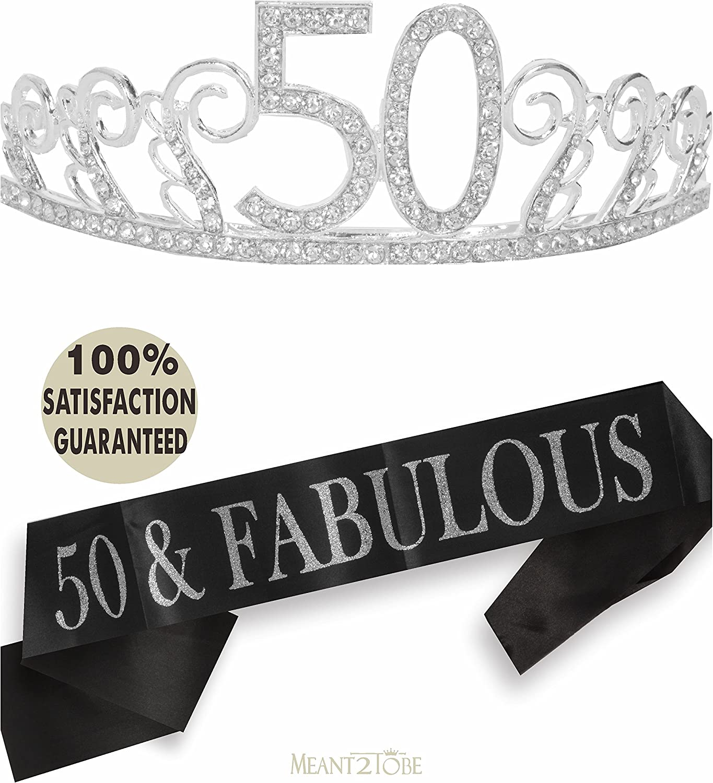 Happy Birthday 50 Today Black Sash NEW