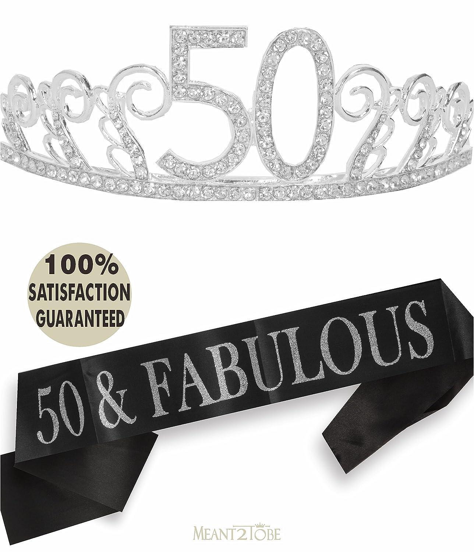 Amazon.com: Meant2ToBe 50th BIRTHDAY - Kit de decoración de ...