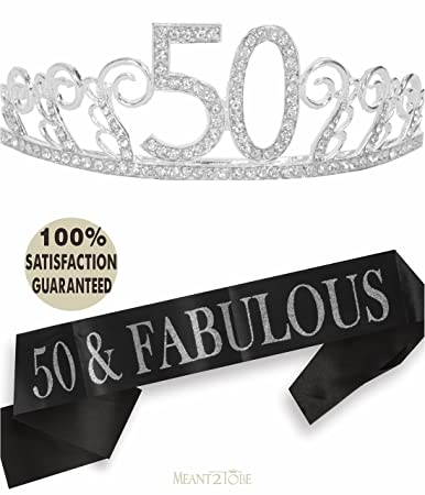 50th Birthday Tiara And Sash