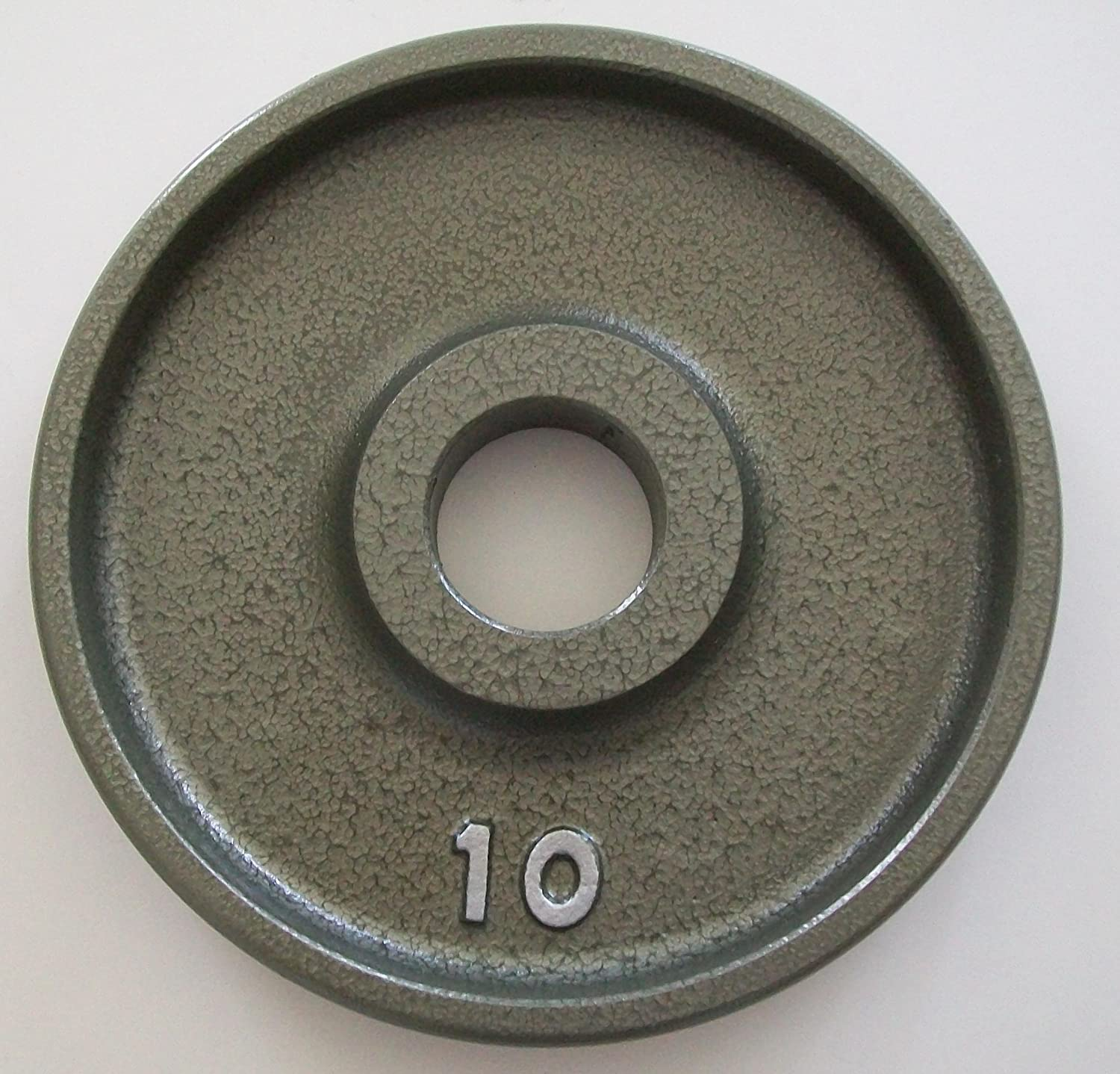 Ivanko 10 lb. Grey Machined Olympic Plates Pair