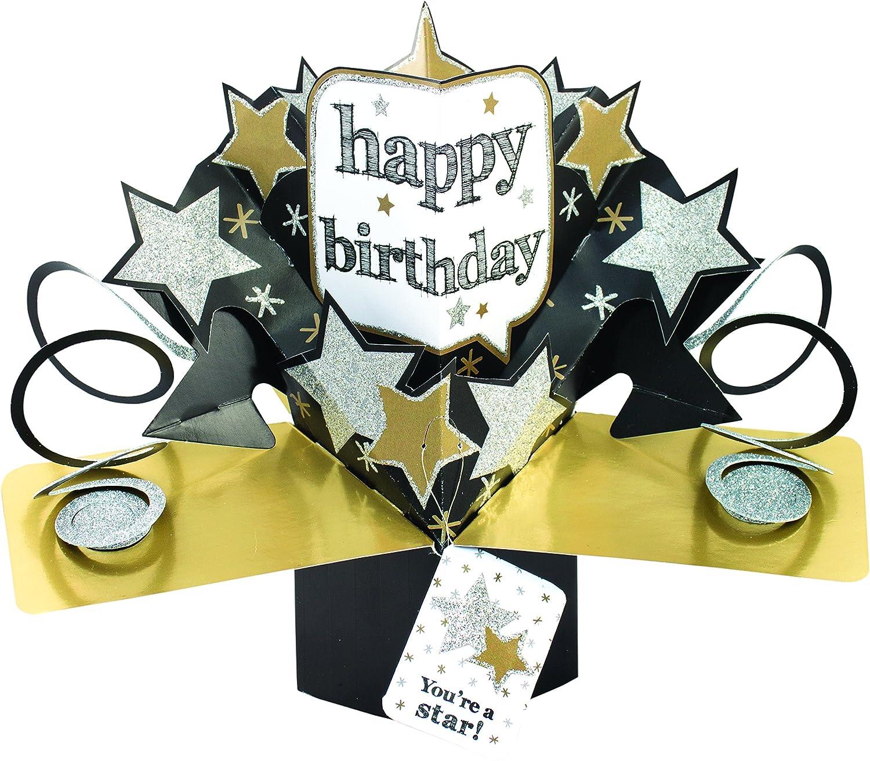 "Suki Gifts International, Biglietto Pop up ""Happy Birthday Stelle Suki Gifts International Ltd 19414"