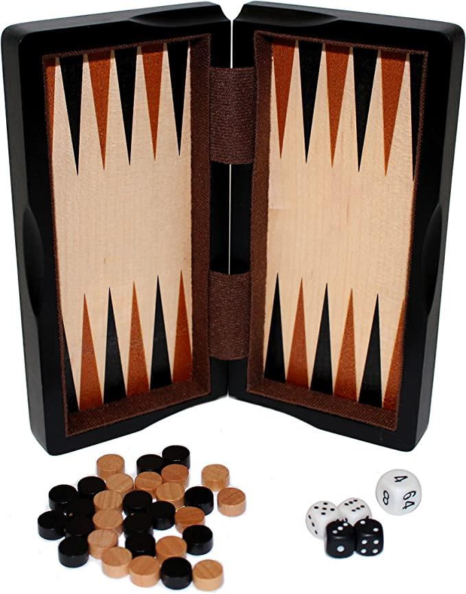 Classic Game Collection 8 Magnetic Dark Wood 3 in 1 Game Set John N Hansen Co.