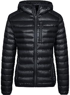 bad8cdb8b154 Wantdo Women s Lightweight Packable Down Jacket Hooded Insulated Coat