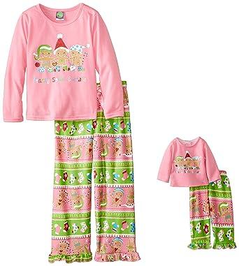 Amazon.com  Dollie   Me Big Girls  Gingerbread Pajama Pant Set 03bfb7f1f