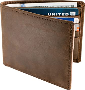 Genuine Leather Bi-fold Mens Wallets