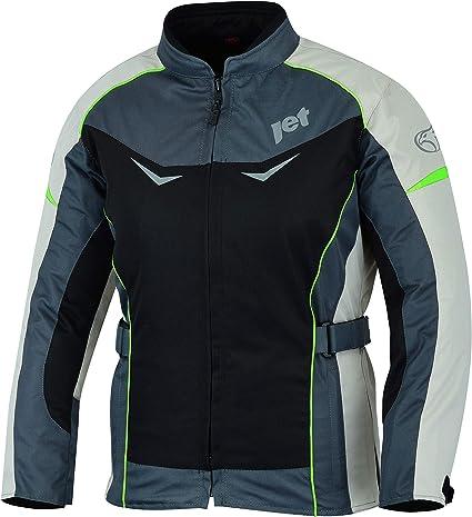 , Gris//Rosa 4XL ES 48 JET Chaqueta Moto Mujer Textil Impermeable con Protecciones ROCHELLE