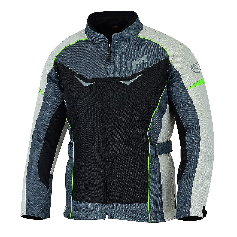 , Azul ES 42 JET Chaqueta Moto Mujer Textil Impermeable con Protecciones ROCHELLE XL