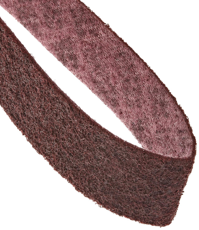 Scotch-Brite  Surface Conditioning Belt, 72' Length x 2' Width, Medium, Maroon (Pack of 1) 72 Length x 2 Width 3M 048011-00580