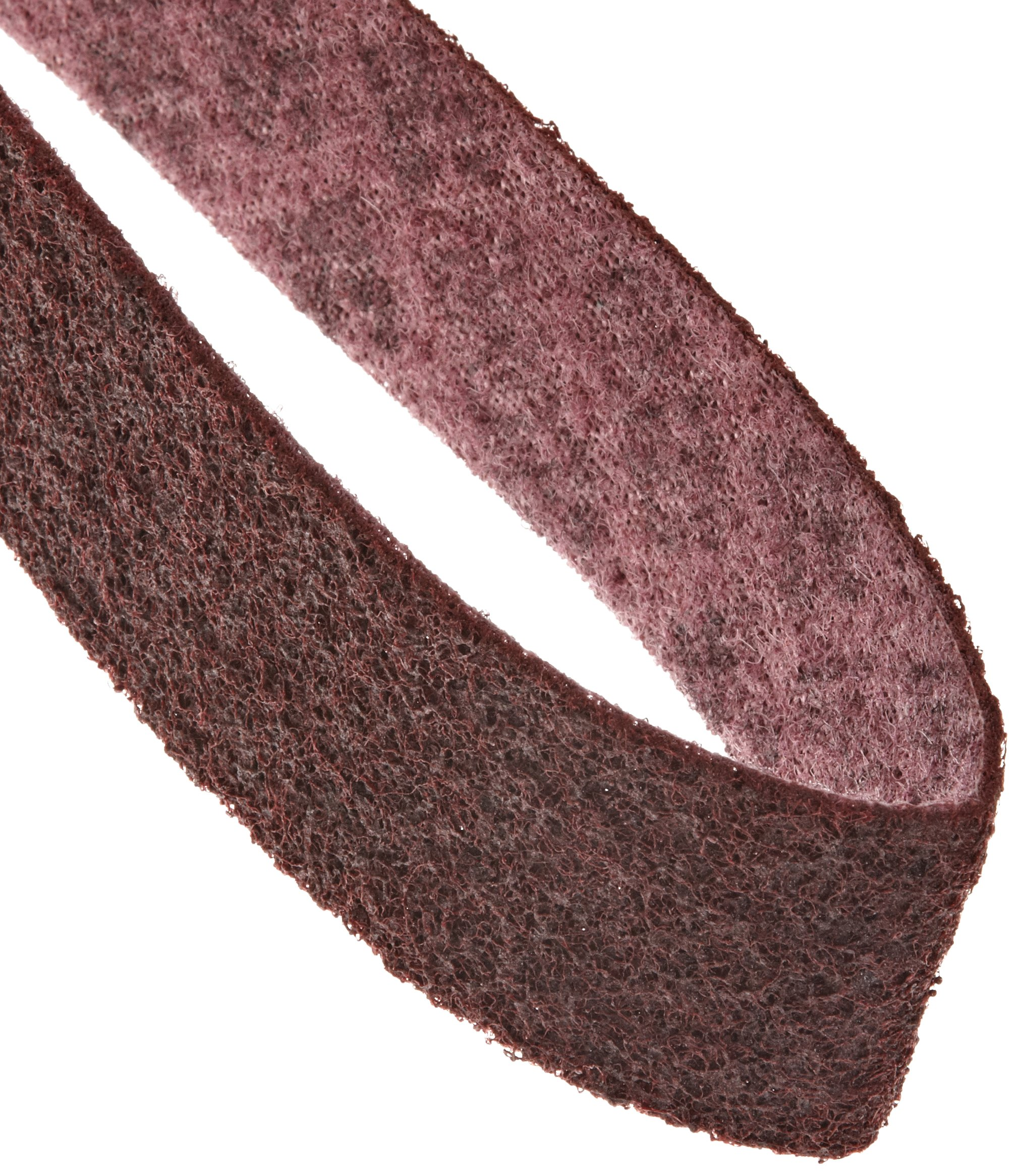 Scotch-Brite  Surface Conditioning Belt, 72'' Length x 2'' Width, Medium, Maroon (Pack of 1)
