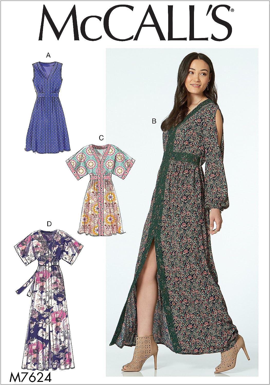 Mehrfarbig McCall s Patterns 7624/E5/Damenkleider
