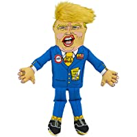 """FUZZU Donald Trump Political Parody Novelty Dog Chew Toy with Squeaker - Even Smaller 8"""" Size Toy"""