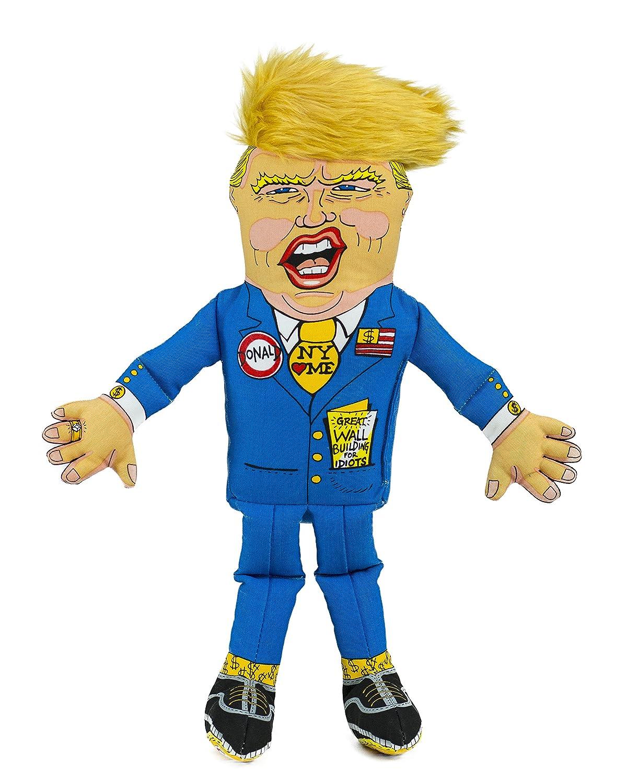 Fuzzu Donald Trump Spielzeug für Hunde aus Plüsch (30cm) - Der Hit aus den USA - Kuscheltier aus Plüsch