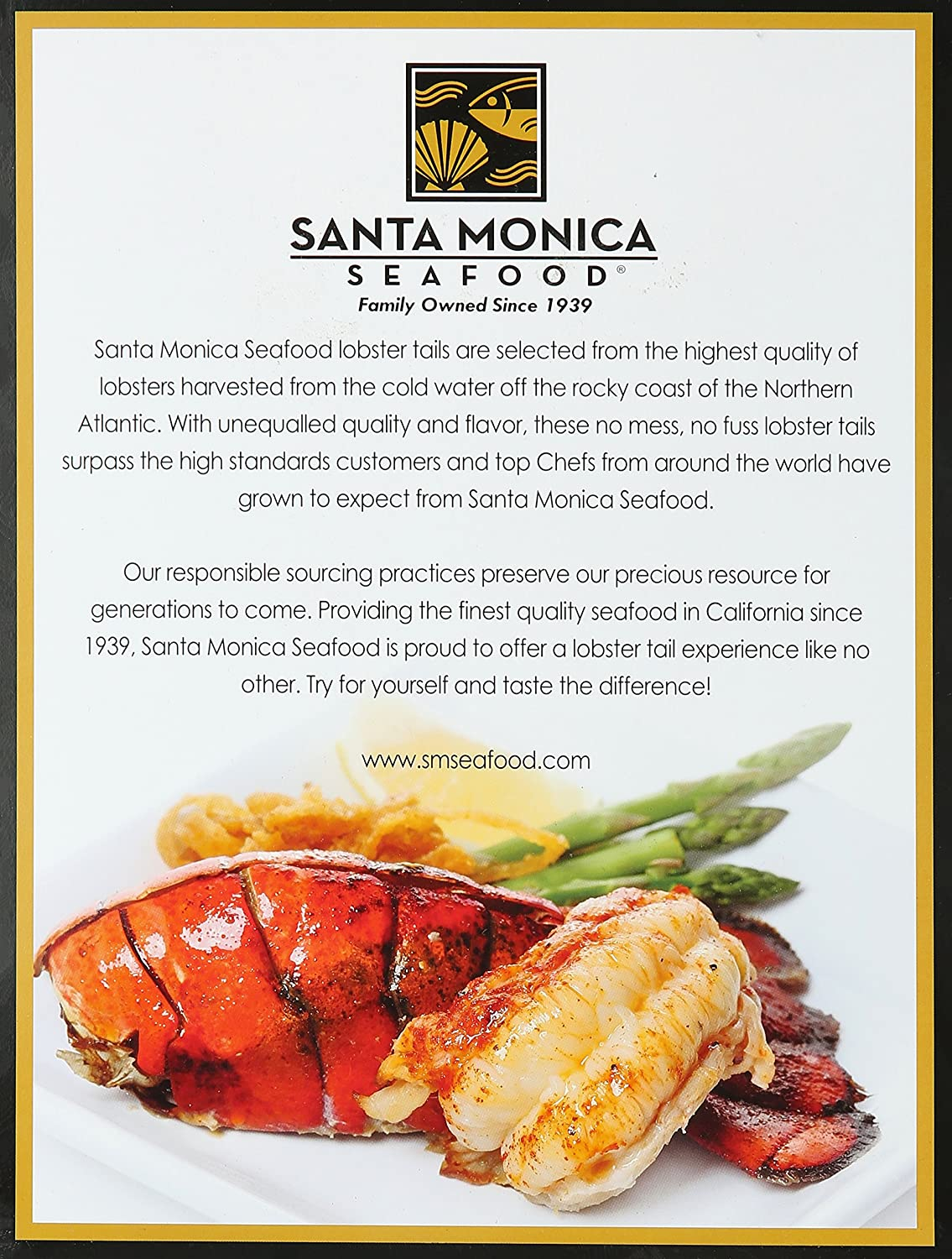 Santa Monica Seafood, Wild Caught Lobster Tails, Twin Pack, 0.5 lb ...