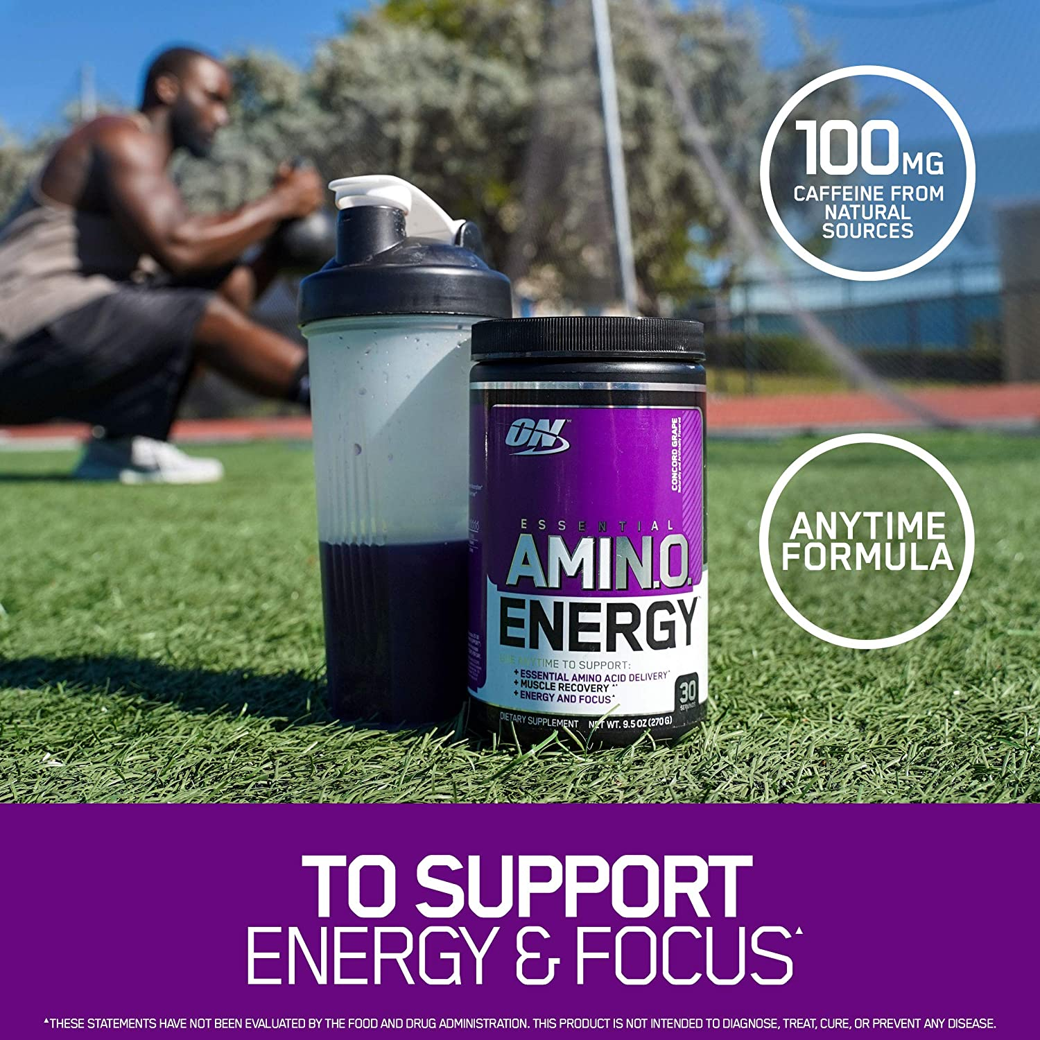 Optimum Nutrition Amino Energy - Pre Workout with Green Tea, BCAA, Amino Acids, Keto Friendly, Green Coffee Extract, Energy Powder - Watermelon, 65 Servings: Health & Personal Care