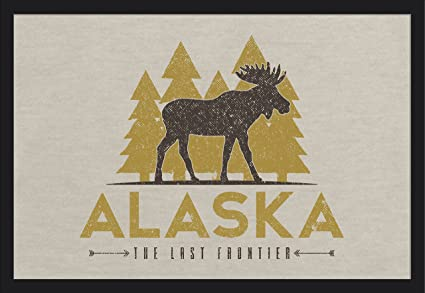 Amazon com: Alaska - The Last Frontier - Vector Moose and