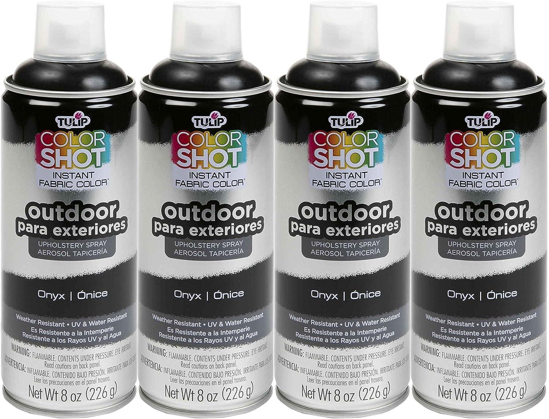 Bulk buy: Tulip ColorShot Outdoor Upholstery Spray Paint 8 oz. 4-pack, Onyx