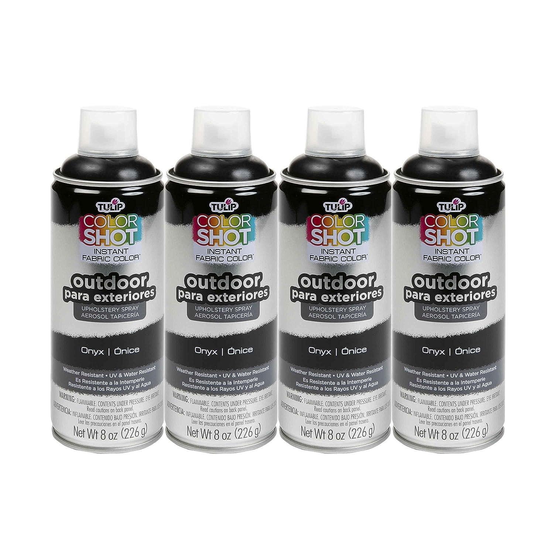 Bulk buy: Tulip ColorShot Outdoor Upholstery Spray Paint 8 oz. 4-pack, Onyx iLoveToCreate 37994