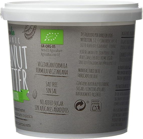 HSN Bio - Mantequilla Cacahuete Orgánica - 100% Bio- Organic Peanut Butter Smooth - Apto para Vegetarianos- Sin Aceite de Palma- Sin Grasas Trans, sin ...