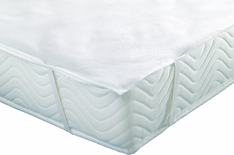 Inch ALMORLA90190 Al/èse Prot/ège Matelas Imperm/éable Molleton Coton Blanc 90 x 190 cm