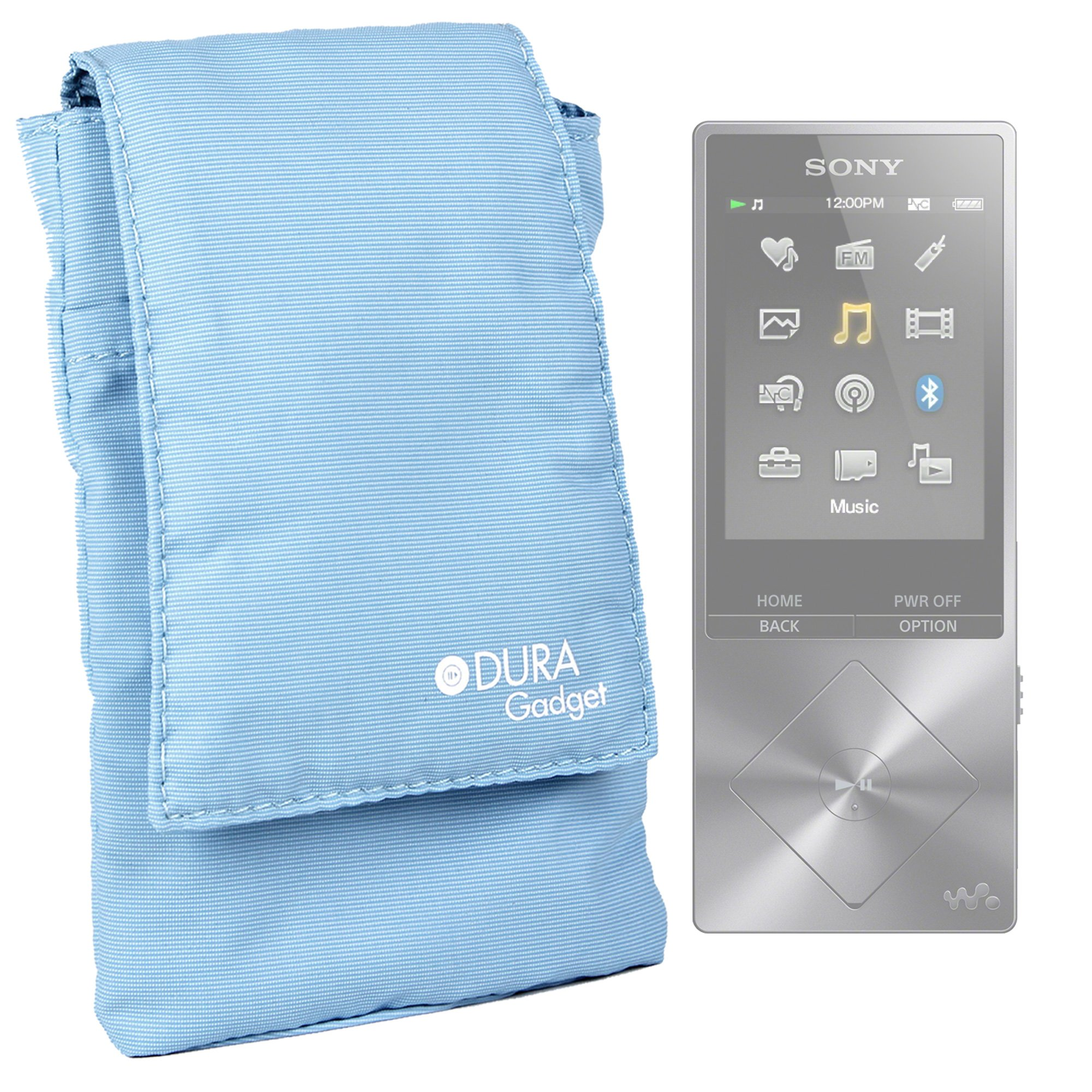 DURAGADGET Lightweight, Cushioned & Ultra-Portable Smartphone Case in Light Blue Compatible with the Sony Walkman NW-A26 MP3 Player