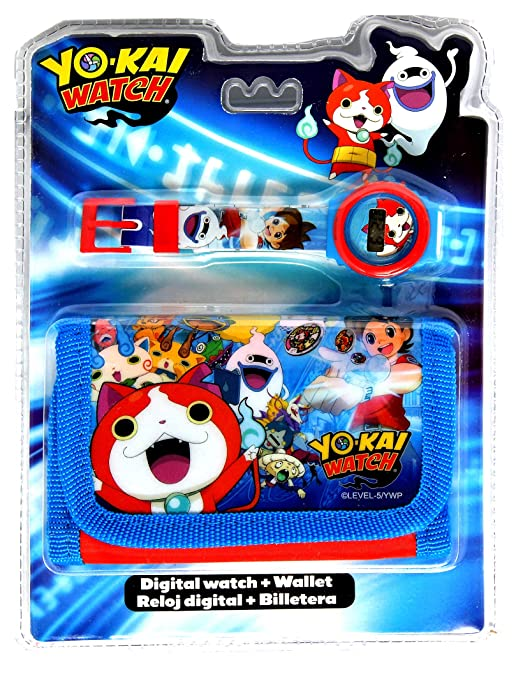 Amazon.com: Yo-Kai Digital Watch&Wallet,Children Watch,Kids Watch,Official Licensed,Gift Set: Toys & Games