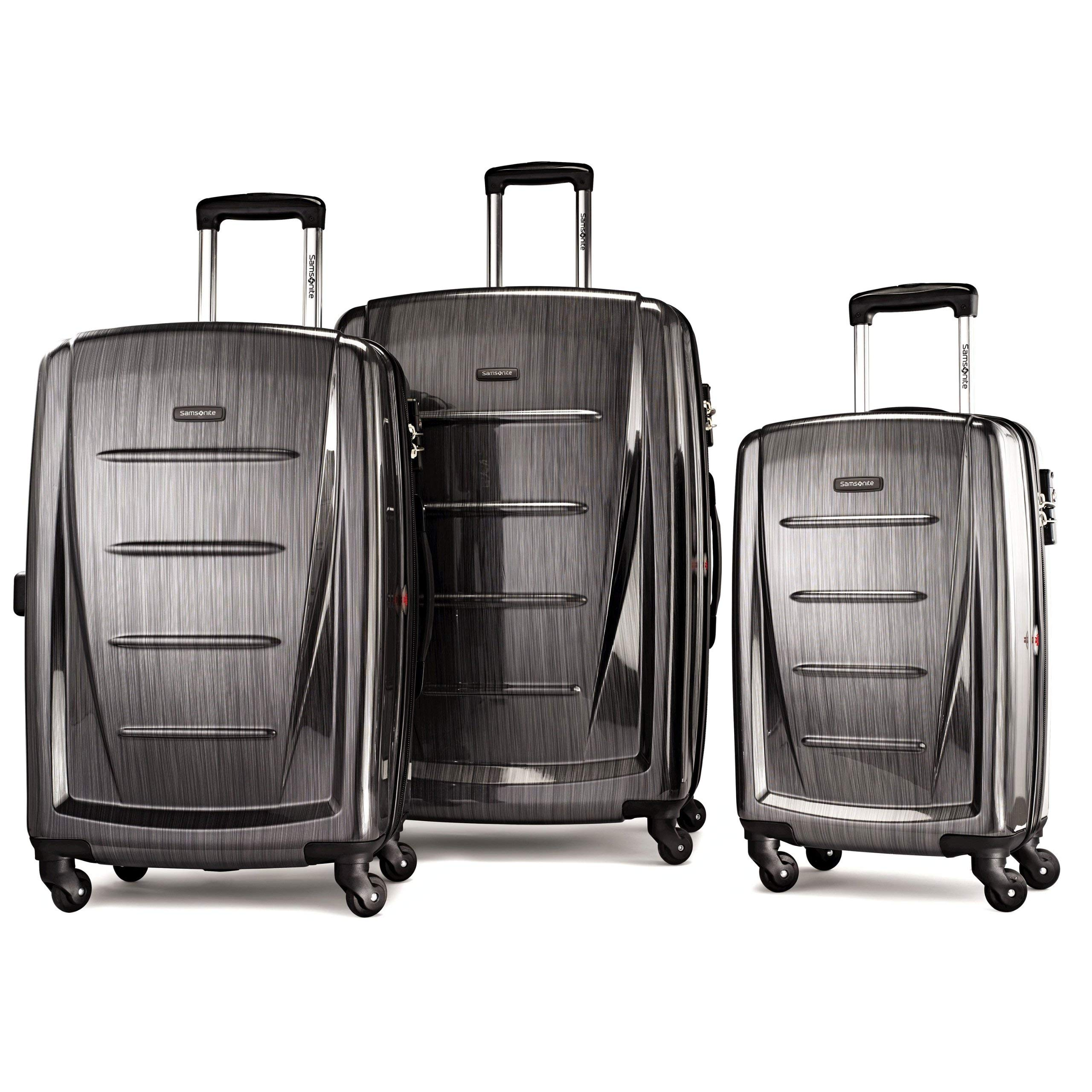 Samsonite Winfield 2 Expandable Hardside Luggage Set with Spinner Wheels, 3-Piece (20/24/28), Charcoal by Samsonite