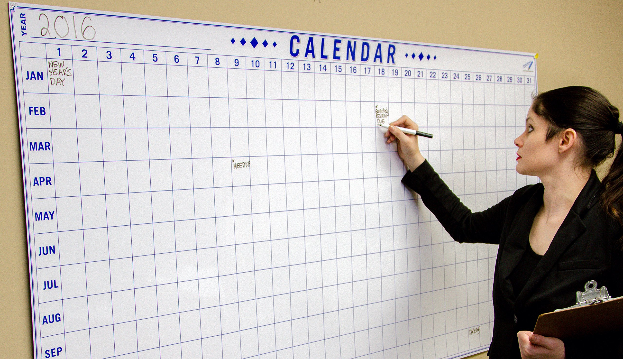 Dry Erase Julian Date Calendar - 36 x 72 Large Dry Erase Wall Calendar - Large Wall Calendar - Reusable Annual Calendar - Wall Planner with Vertical Dates and Horizontal Months by Oversize Planner by ABI Digital Solutions (Image #6)