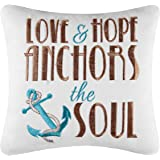 "10"" Pillow,Love & Hope Anchors The Soul"