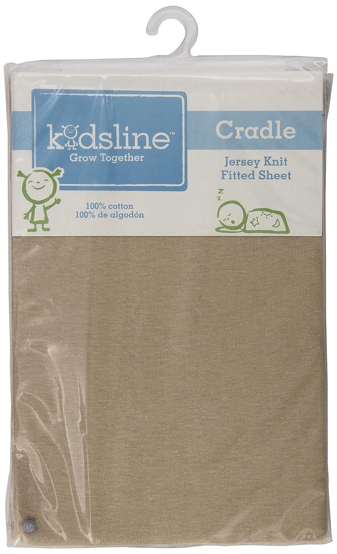 kidsline Cradle Jersey Knit Fitted Sheet, Tan (Discontinued by Manufacturer) KE1006CFS