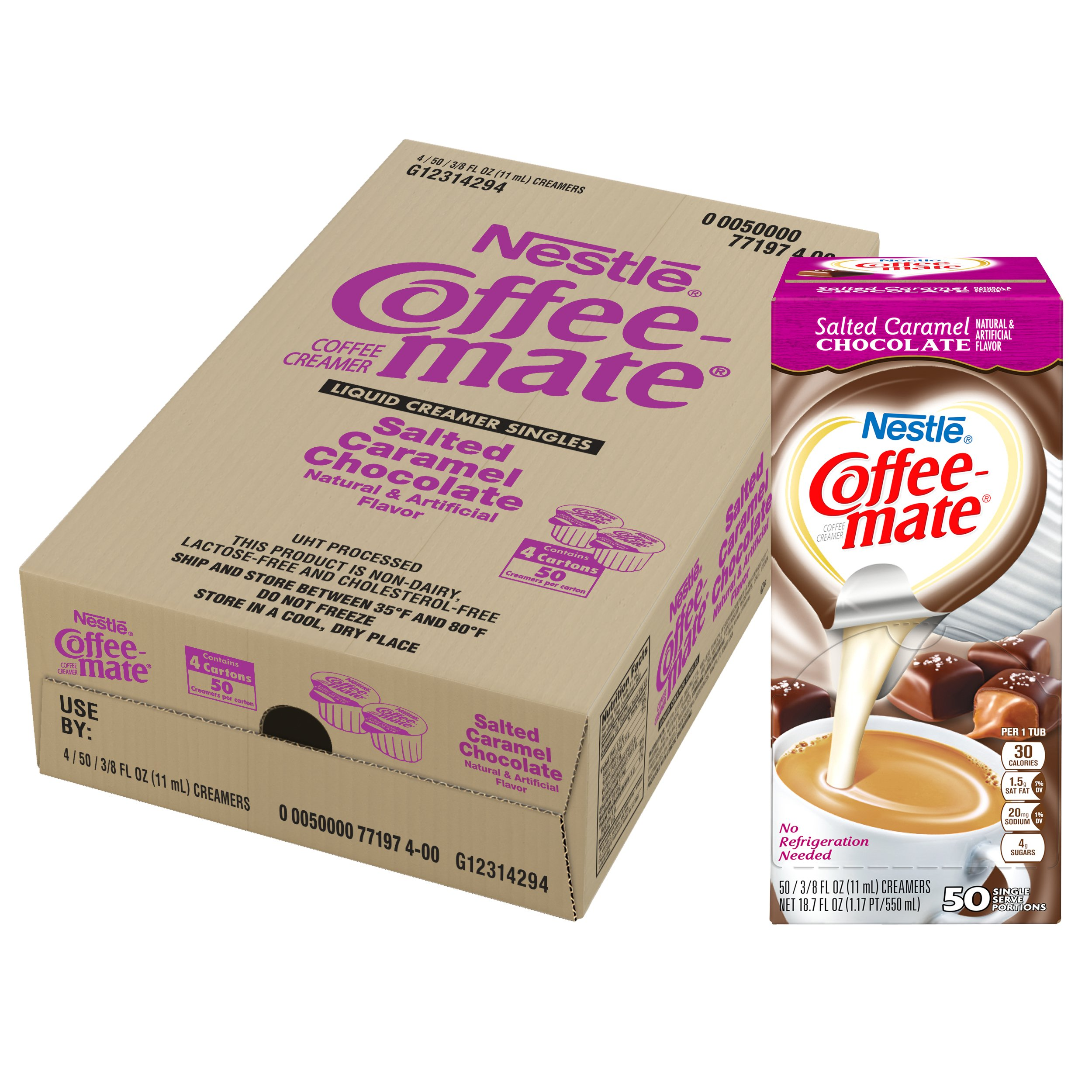 NESTLE COFFEE-MATE Coffee Creamer, Salted Caramel Chocolate, liquid creamer singles, 50 Count, Pack of 4 by Nestle Coffee Mate (Image #6)