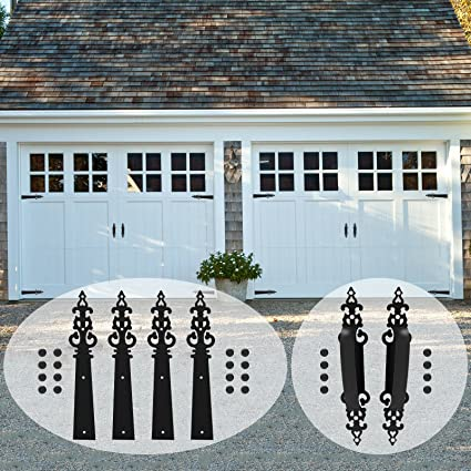 CCJH Decorative Carriage House Garage Handle Hinge Accent Set Door on magnetic faux carriage door hardware, decorative door hardware, garage door carriage doors,