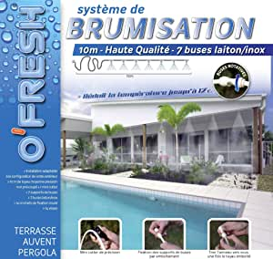 OFresh 063 - Rociador de terraza (10 m 7 tubos): Amazon.es: Bricolaje y herramientas