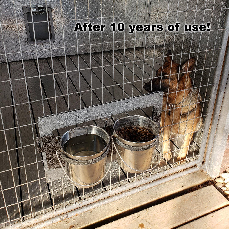 Activedogs Swinging Double Diner - Dog Drink & Food Bowls for Kennel