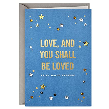 Hallmark Signature Love Card And Be Loved Romantic Anniversary Birthday Mothers Day