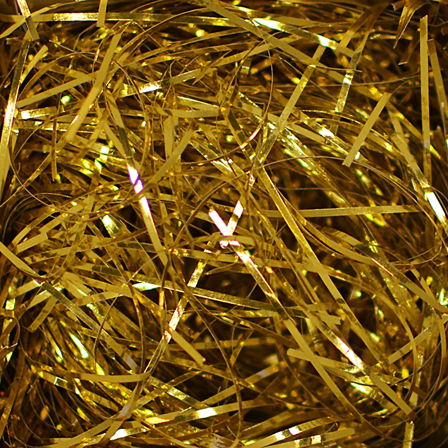 Box Gold and White Metallic VeryFine Cut Color Shred Gift Packing 10 Lb