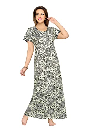 a3390ace90063 Soulemo Womens Nighty 100% Pure Cotton Nighty. 527: Amazon.in ...