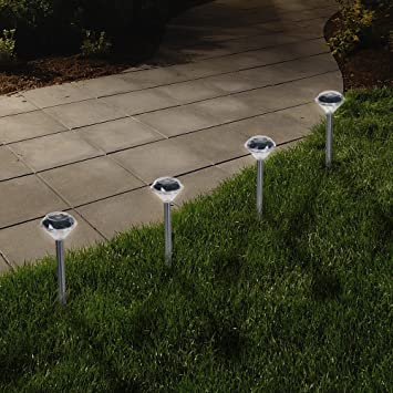 Solar Powered Lights (Set Of 24)  Low Voltage LED Outdoor Steak Spotlight  Fixture