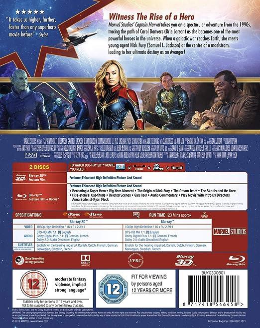 Amazon com: Captain Marvel [Blu-ray 3D] [2019]: Movies & TV