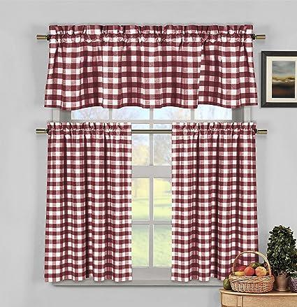 Home Maison Kingston - Juego de cenefa de cortina de ventana niveles ...