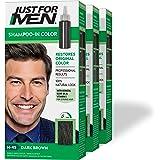 Just For Men Shampoo-In Color (Formerly Original Formula), Gray Hair Coloring for Men - Dark Brown, H-45, Pack of 3…