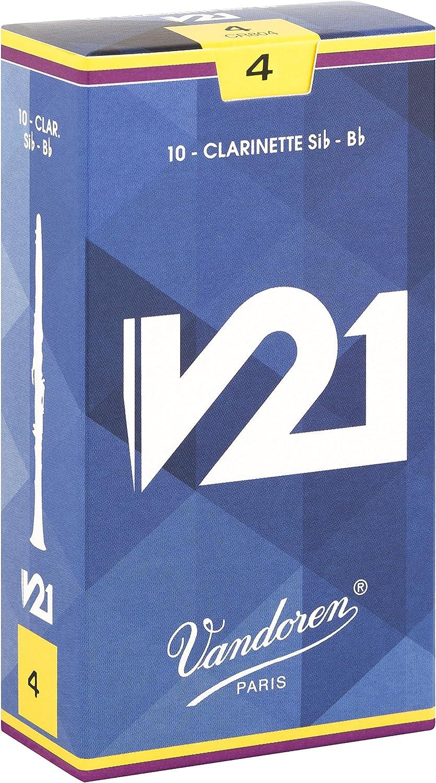 Vandoren CR804 S/érie V21 force 4 Bo/îte de 10 Anches pour Clarinette SIB Bleu