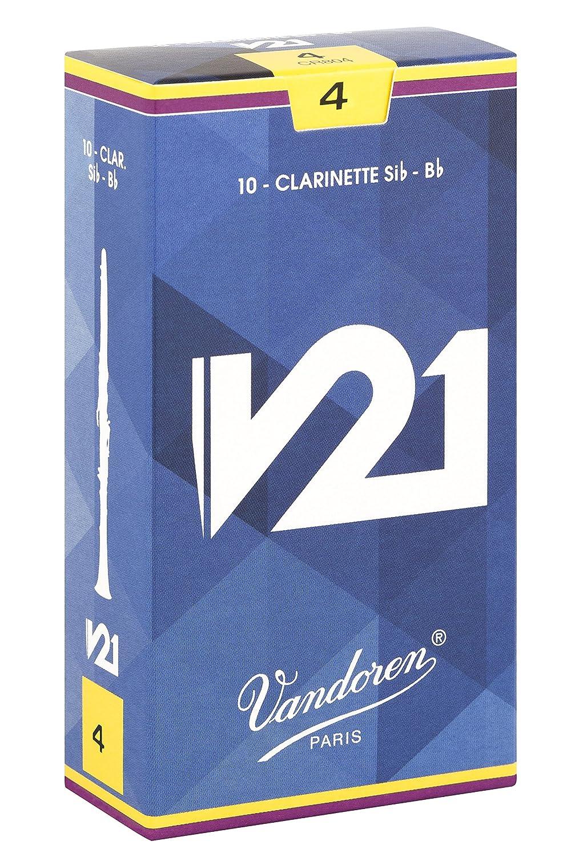 Vandoren CR804 Bb Clarinet V21 Reeds Strength 4;  Box of 10