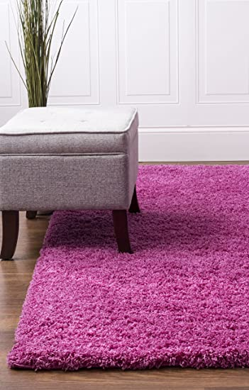 Pink Shag Rug, 5 Feet By 8 Feet, 5x8 Solid U0026 Thick