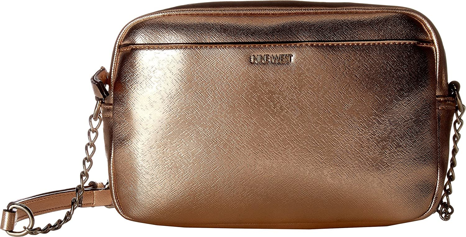 974585fc198f Nine West Women s Mansi Crossbody Metallic Rose Gold One Size  Handbags   Amazon.com