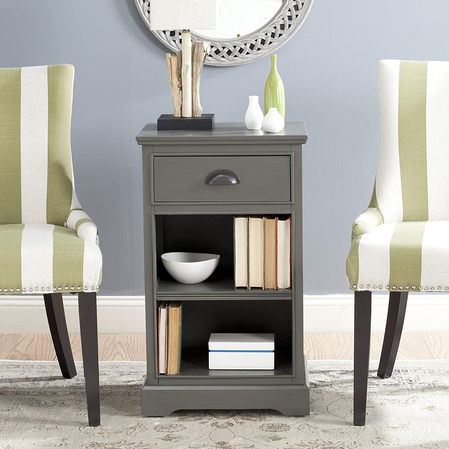 Marvelous Amazon.com: Safavieh American Homes Collection Griffin Grey Side Table:  Kitchen U0026 Dining
