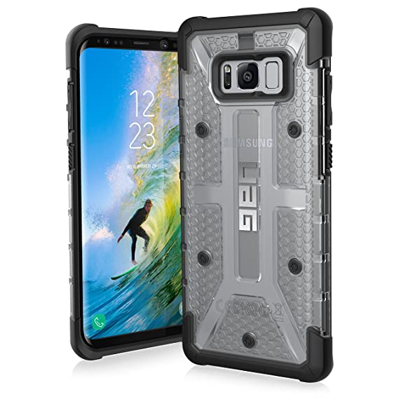 new product 5fad2 b0c67 UAG Samsung Galaxy S8+ [6.2-inch screen] Plasma Feather-Light Rugged [ICE]  Military Drop Tested Phone Case