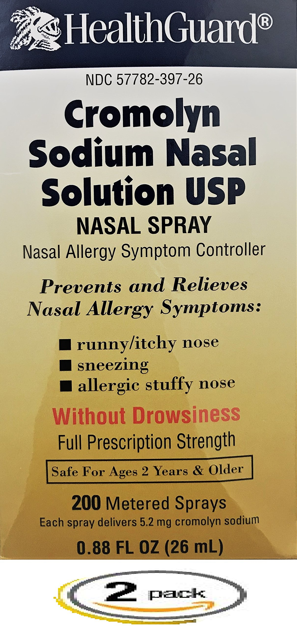 Cromolyn Sodium Nasal Solution 26mL *Pack of 2 Bottles Only